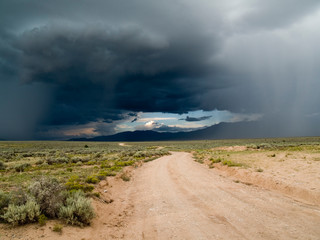Summer storm on the mesa, Taos County, New Mexico