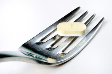 Fourchette et cachet