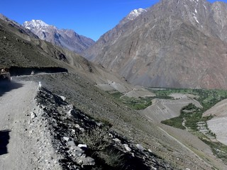 mountain road from the Chitral valley  to the Shandur Pass