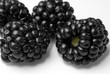 Close up shot of ripe mouth watering blackberries