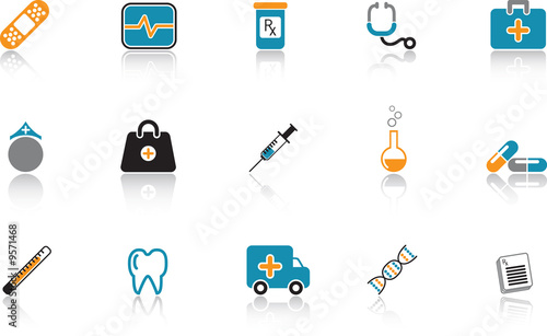 Medical Icon Set - Blue version