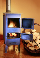 Old fashioned wood burning stove
