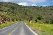 Route asphaltée, Brésil. Asphalt road, Brazil.Chapada.