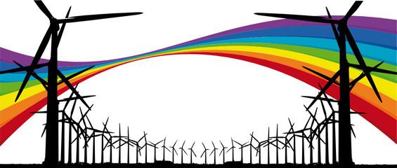 énergie propre et éoliennes