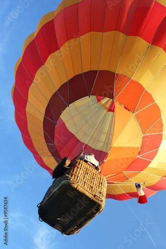Fotobehang Ballon Ballon avec ciel bleu
