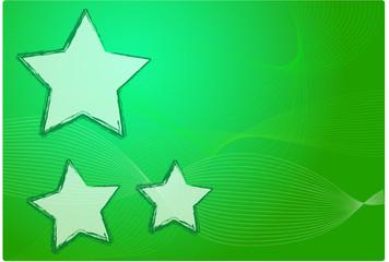 sfondo verde con stelle natale