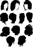 twelve woman hairstyles poster