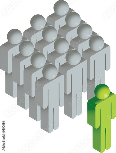 vector isometric people, a leader or innovator