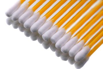 hygienic sticks of orange color on  white background