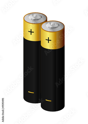 two Batteries, power energy