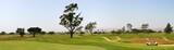 Panoramic shot of a golf fairway near Ventura poster