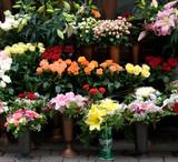 Street Business - Flower Booth, Riga Latvia poster