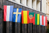 Riga, Latvia. Flags of European Countries. poster
