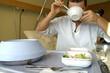 Patient beim essen