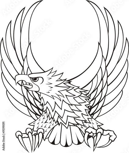 logo de aguila para escudo