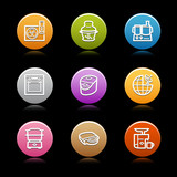 Color circle web icons, set 17 poster