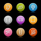 Color circle web icons, set 18 poster