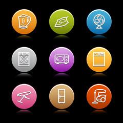 Color circle web icons, set 18
