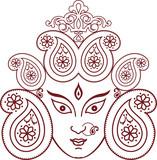 Durga Indian Goddess ornamental design poster
