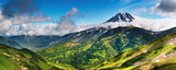 Mountain panorama with extinct volcano poster