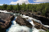Fototapety Flowing river, Abisko National Park in Sweden