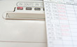 Leinwanddruck Bild - punch clock and card