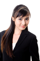 young beautiful confident asian business woman