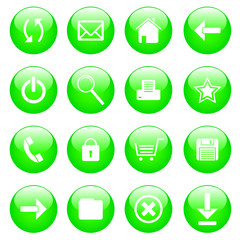 A set of web icons