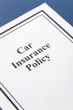 Document of Car Insurance Policy for background poster