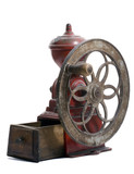 Red cast iron, antique Spanish Coffee Mill