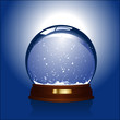 realistic vector illustration of an empty snowglobe - 9615060