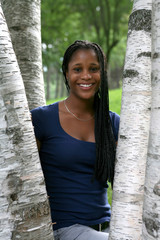 pretty black teenage girl with arms crossed