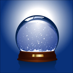 realistic vector illustration of an empty snowglobe