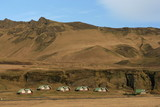 Village houses in Vik, Iceland