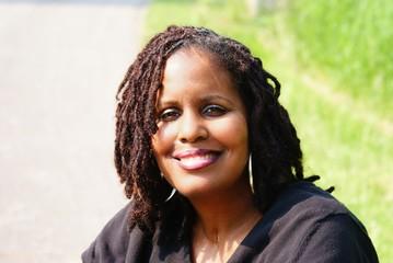 African American Woman with Dreadlocks