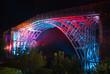 Abraham Derby's historic Ironbridge lit up at night - 9627272
