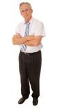Senior Businessman full length isolated on white poster