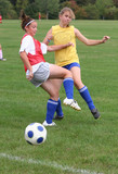 Youth Teen Soccer Players in Action poster