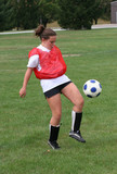 Youth Teen Soccer Player Bouncing Ball in Air 2 poster