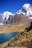 Yerupaja mountain in high Andes,  Cordillera Huayhuash