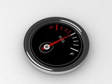 three dimensional  fuel  gauge on an  isolated background