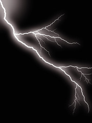 haloween background - flash of lightning against night sky
