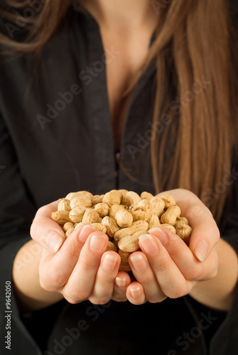 Bad job businesswoman working for peanuts or very little money