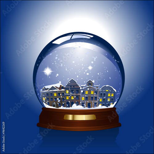 snowglobe with small town inside - 9642269