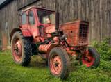 Traktor in HDR poster