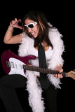 Female Rock Band Member in action poster