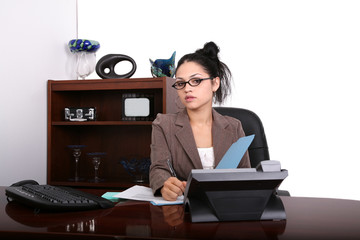 Attractive Young Latino Professional at the Office