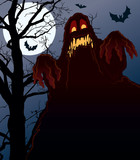 Nightmare, perfect illustration for Halloween holiday poster