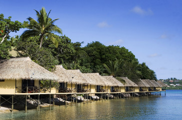 Fares or water front bungalows in Vanuatu
