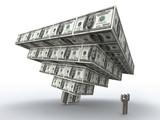 Financial pyramid crush poster